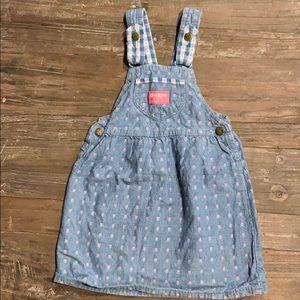 Vintage OshKosh Denim Overall Dress 5